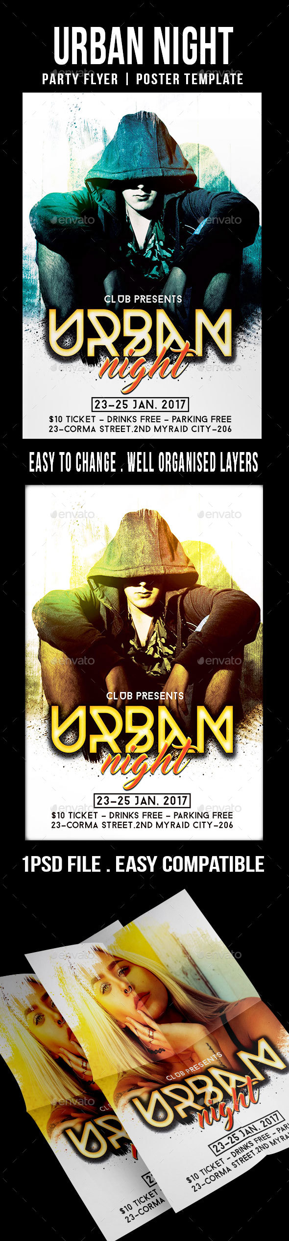 Urban Night - Flyers Print Templates