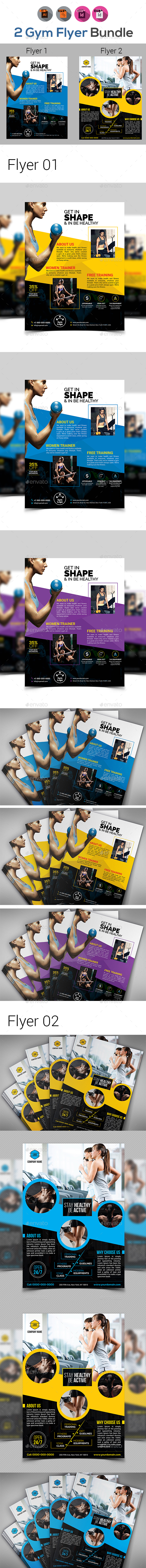 Fitness / Gym Flyer Bundle V7