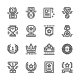 Set Line Icons of Award - GraphicRiver Item for Sale