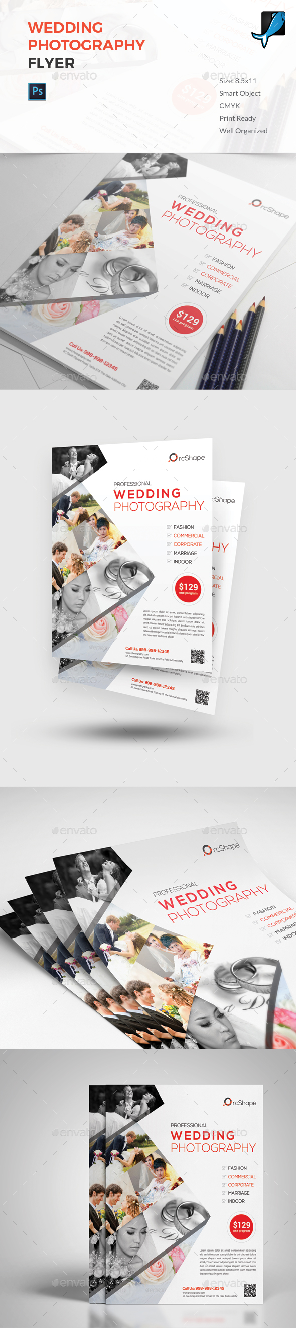 Photography Flyer Template Graphics, Designs & Templates