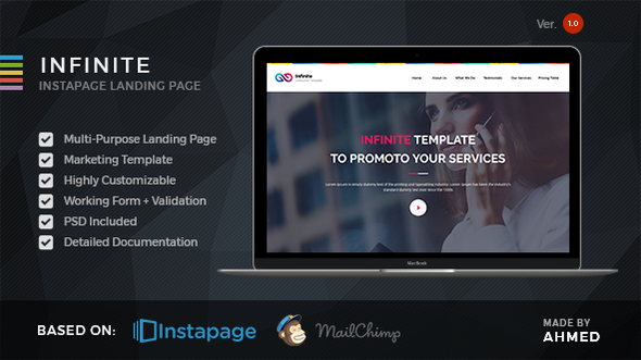 Infinite - Marketing Instapage Template