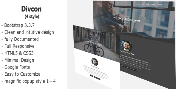Divcon – Personal Responsive Template