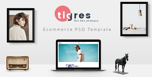 Tigres – PSD Ecommerce Template