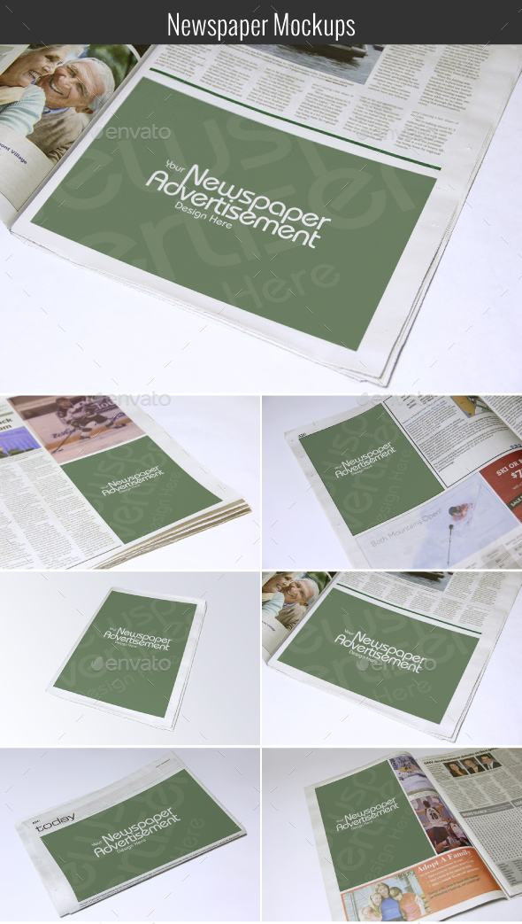 Newspaper Mockups - Miscellaneous Print