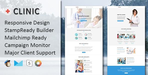 CLINIC – Multipurpose Responsive Email Template with Stampready Builder