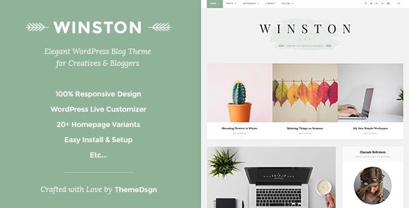 Responsive WordPress Blog Theme - Winston - Personal Blog / Magazine