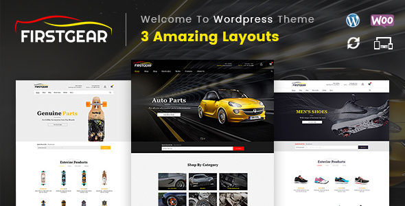 FirstGear – Multipurpose WooCommerce Theme