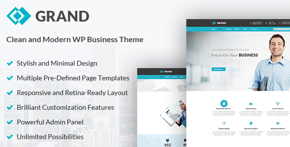Business & Corporate WordPress Theme - Grand