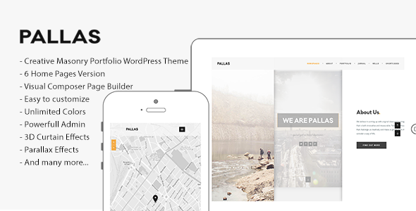 Pallas - Creative Multi-Purpose WordPress Theme - Portfolio Creative