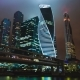 Skyscrapers International Business Center City at Night  - VideoHive Item for Sale