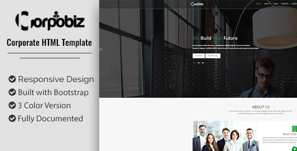 Corpobiz HTML5 Template - Site Templates