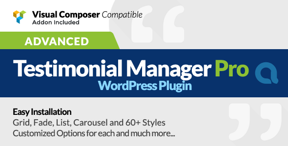 Advanced Testimonials Manager Pro WordPress Plugin - CodeCanyon Item for Sale