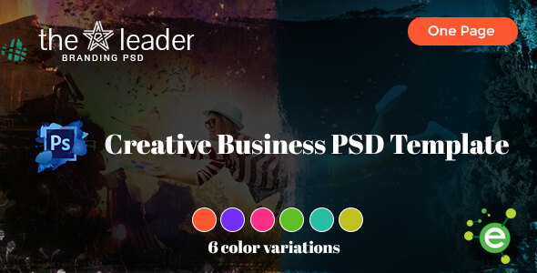 The Leader - Creative Business PSD Template