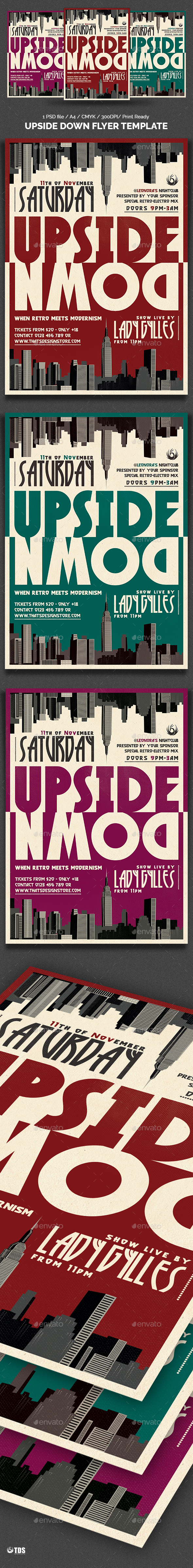 Upside Down Flyer Template - Clubs & Parties Events