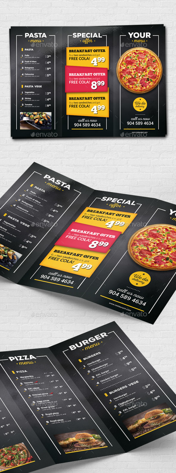 Pizza Restaurant Menu Flyer