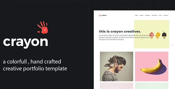 Crayon - Creative Portfolio Template