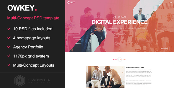 Owkey – Multi-Concept Portfolio PSD template