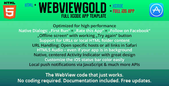 WebViewGold for iOS – URL/HTML to iOS App + Push, URL Handling, APIs & much more! - CodeCanyon Item for Sale