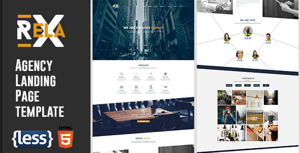 Relax - Creative Agency Landing Page - Miscellaneous Specialty Pages