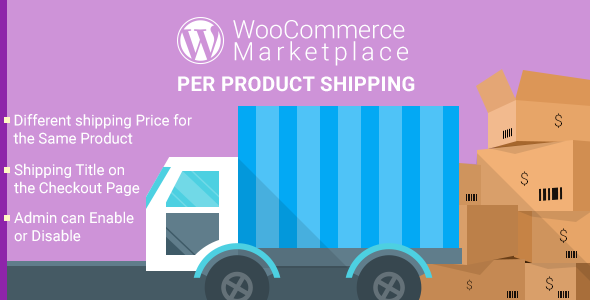 WordPress Woocommerce Marketplace Per Product Shipping Plugin - CodeCanyon Item for Sale