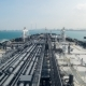 Oil Tanker Is Entering To the Port - Timelaps. - VideoHive Item for Sale