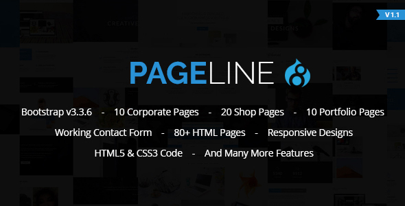 PageLine – Bootstrap Based Multi-Purpose HTML5 Drupal 8 Theme