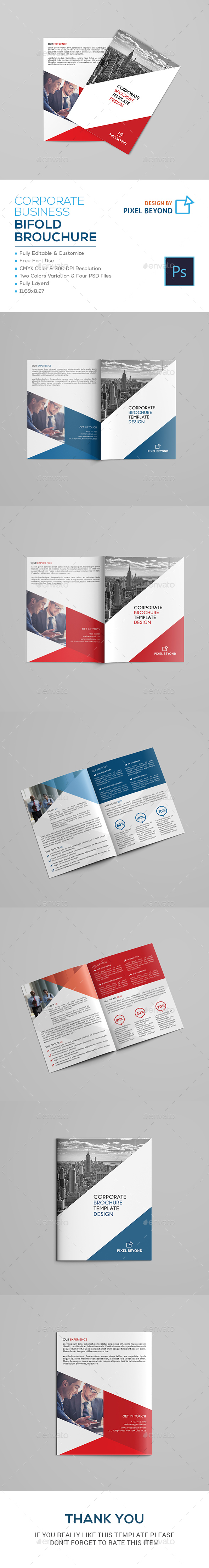 Corporate A4 Bifold Brochure - Corporate Brochures