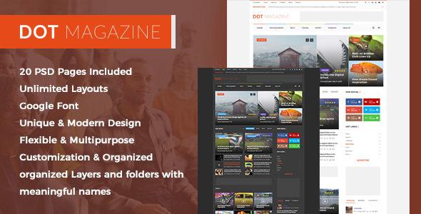 Dot Magazine PSD Templates - Creative PSD Templates