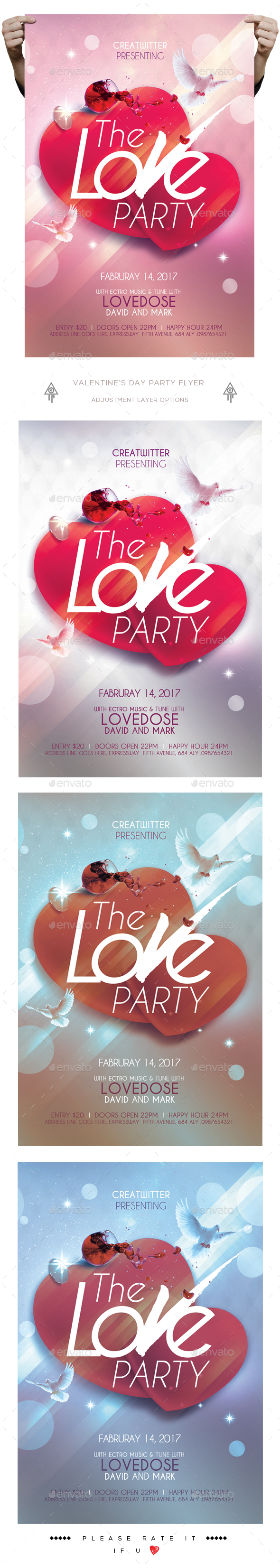 The Love Party Fyer - Clubs & Parties Events
