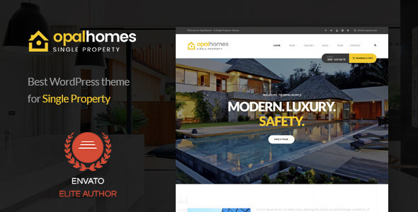 Image of Opalhomes - Single Property  WordPress Theme