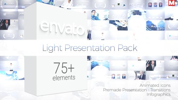 light presentation packmjake | videohive, Presentation Pack Template, Presentation templates