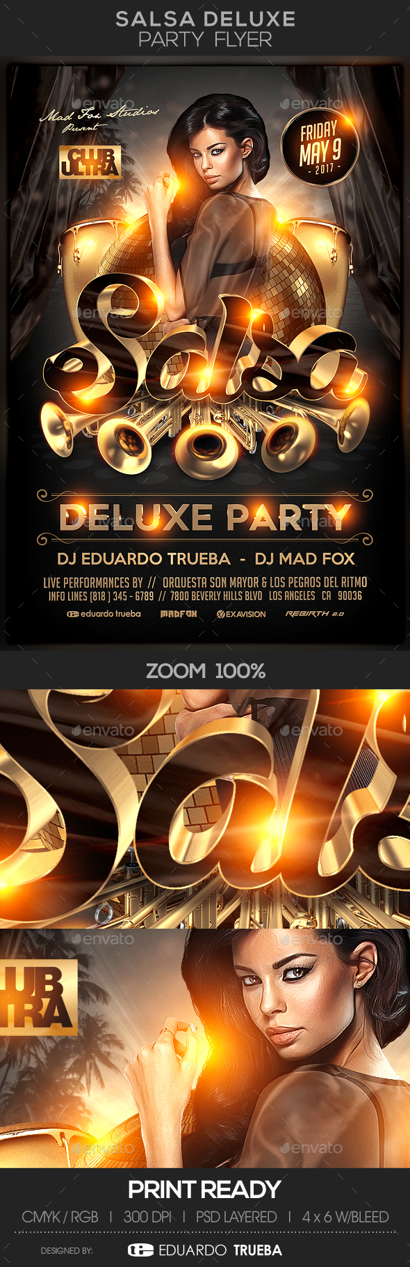 Salsa Deluxe Party Flyer - Clubs & Parties Events