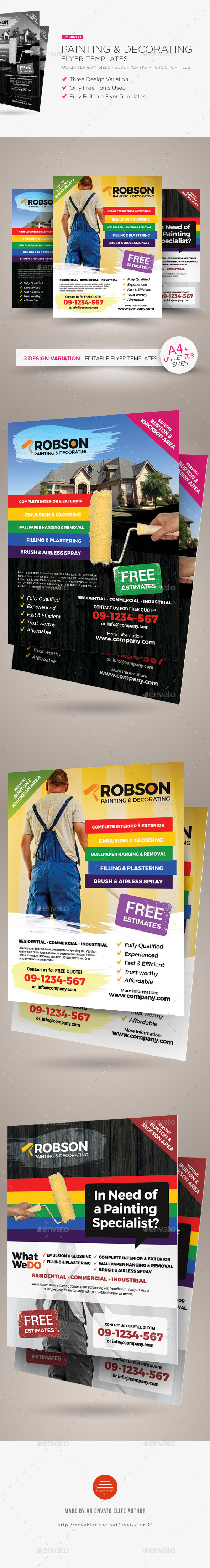 Painting & Decorating Flyer Templates - Corporate Flyers