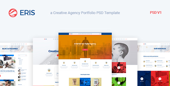 Eris – Design Studio Marketing Agency PSD Template