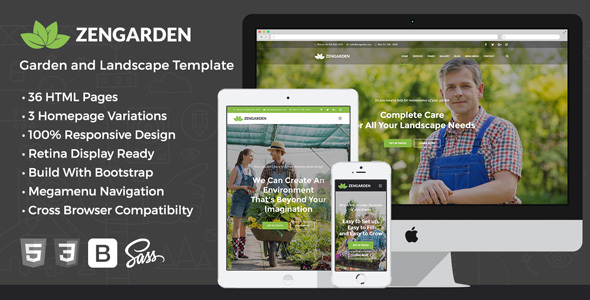 Zen Garden - Garden and Landscape HTML Template - Business Corporate
