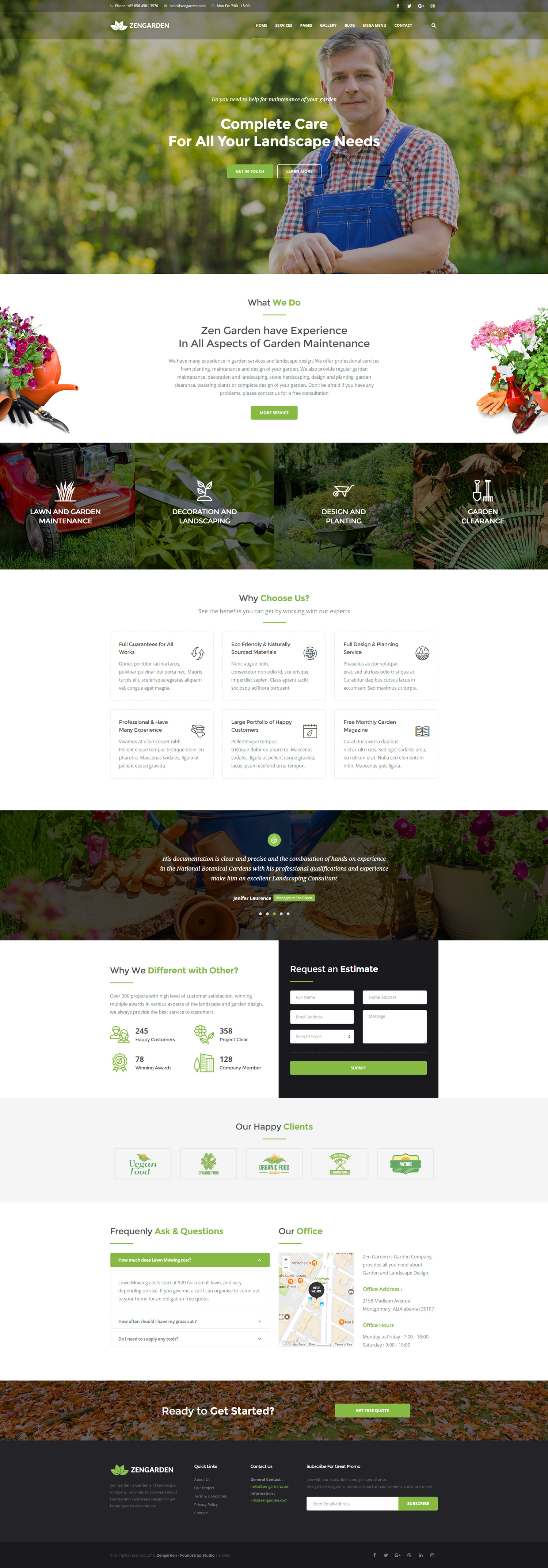 Zen Garden - Garden and Landscape HTML Template by foundstrap ... on landscape design, loft design, zen gardens in japan, zen gardens landscaping, zen space, zen small backyard ideas, zen gardening, mail kiosk design, pergola design, zen art, okinawa design, pool design, zen symbols, zen flowers, zen doodle designs instruction, zen paint colors, patio design,