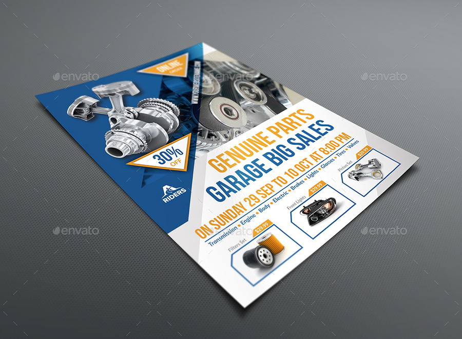 auto parts advertising bundle by owpictures