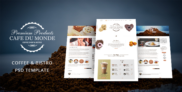 Cafe du Monde – Onepage Cafe & Bistro Template