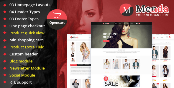 Menda – Advanced Opencart Theme