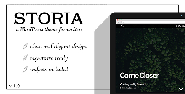 Storia – A WordPress Theme for Writers, Bloggers, Storytellers