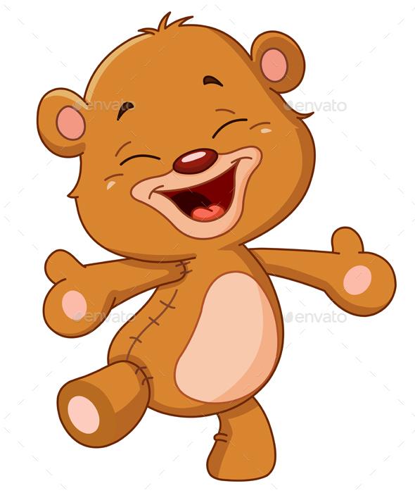 Cheerful Teddy Bear - Animals Characters