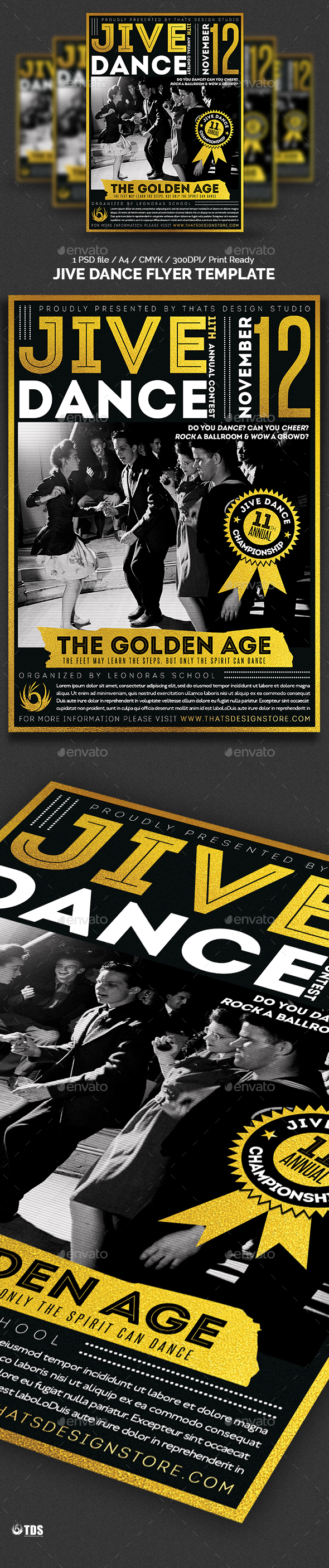Jive Dance Flyer Template - Concerts Events