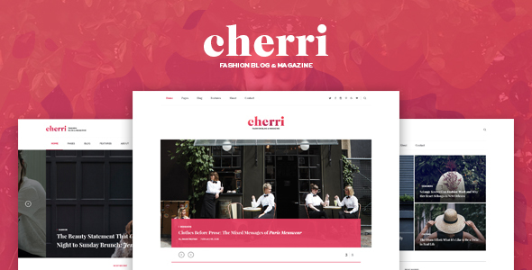 Cherri – Personal Blog HTML Template