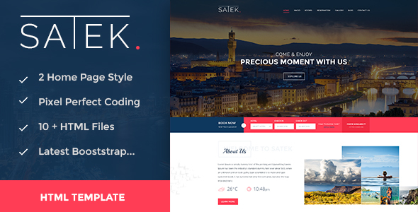 Satek : Resort and Hotel HTML Template
