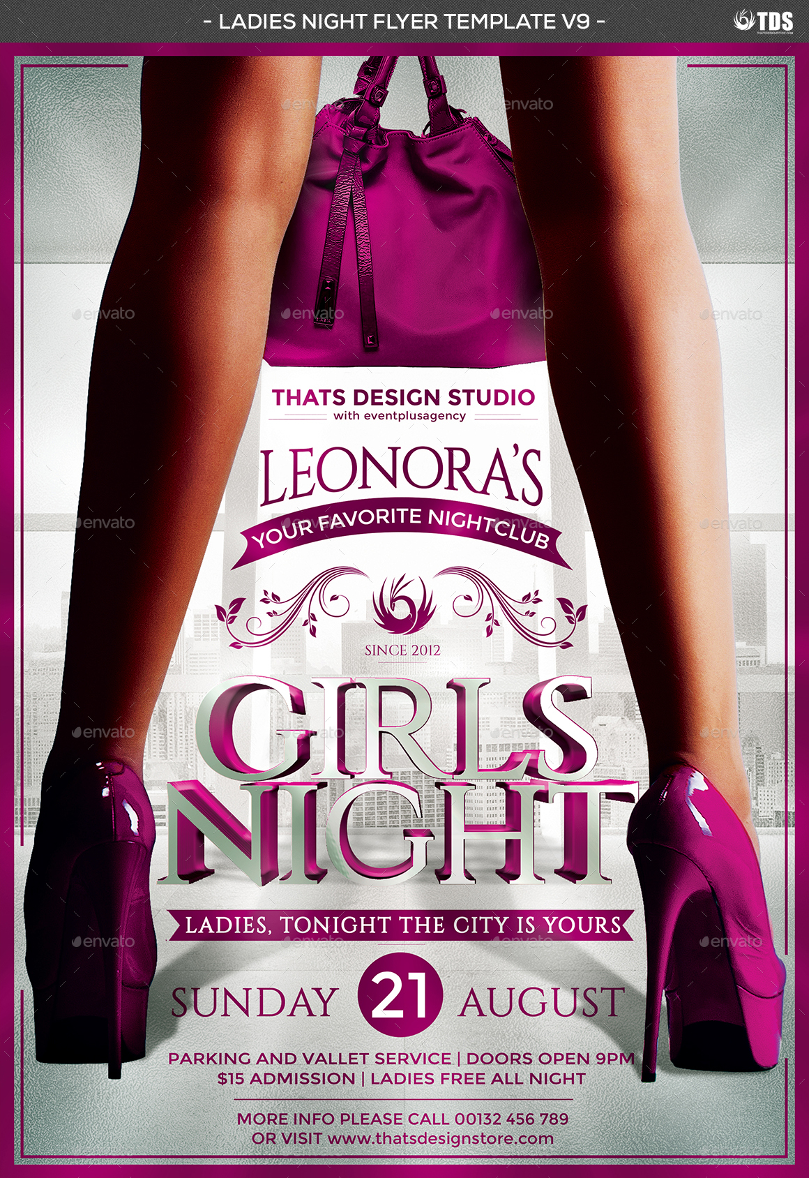 ladies night flyer template v9 by lou606