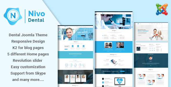 Nivo – Responsive Multi-Purpose Joomla Theme