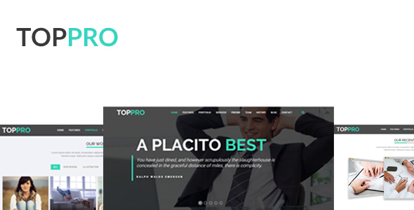 TOPPRO – is a Premium HTML Responsive Templeate