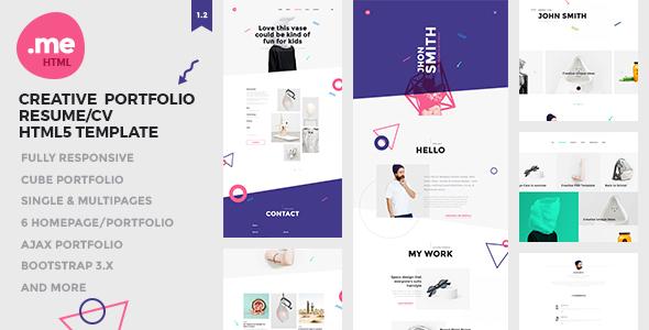 Me - Creative Portfolio & Resume / CV HTML5 Template