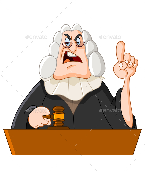 Judge with Gavel - People Characters