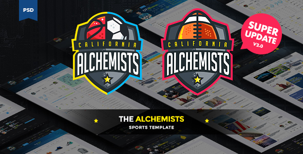 The Alchemists – Sports News PSD Template V2.0